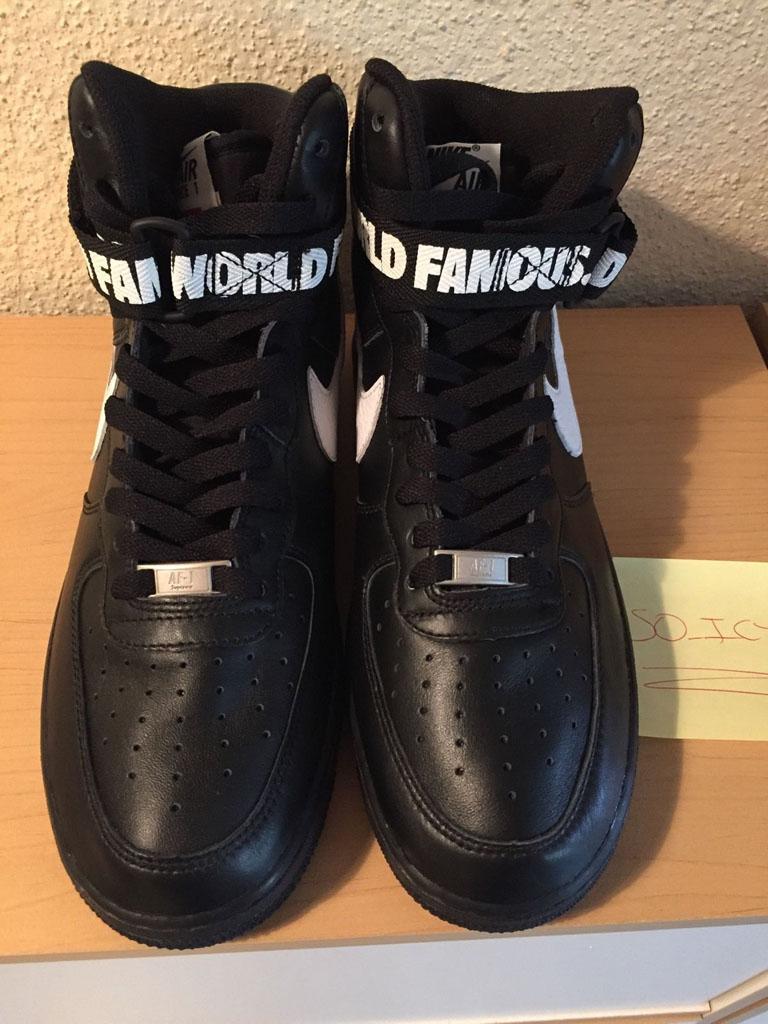 100% authentic b7ae8 802fd Supreme x Nike Air Force 1 High Black (2)