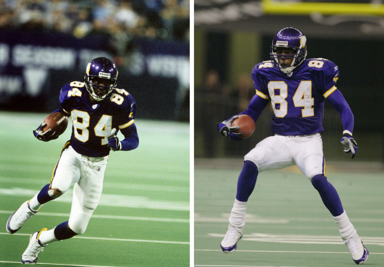 Randy Moss wearing Air Jordan IX 9 Minnesota Vikings PE (8)