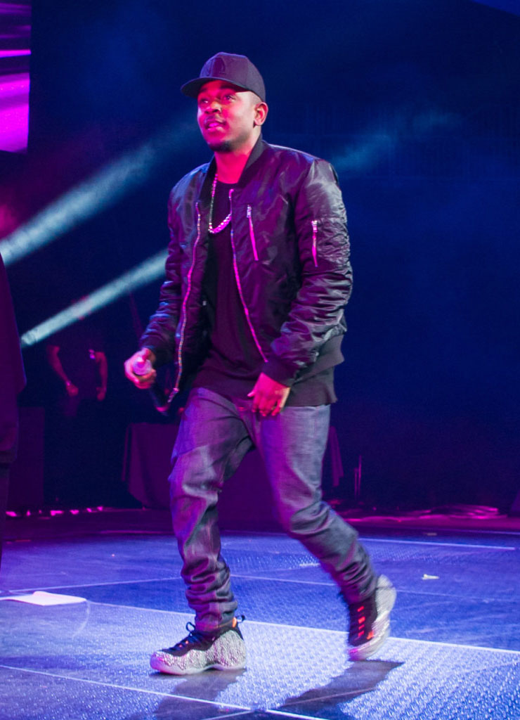 Kendrick Lamar Wearing 'Safari' Nike Air Foamposite One (1)