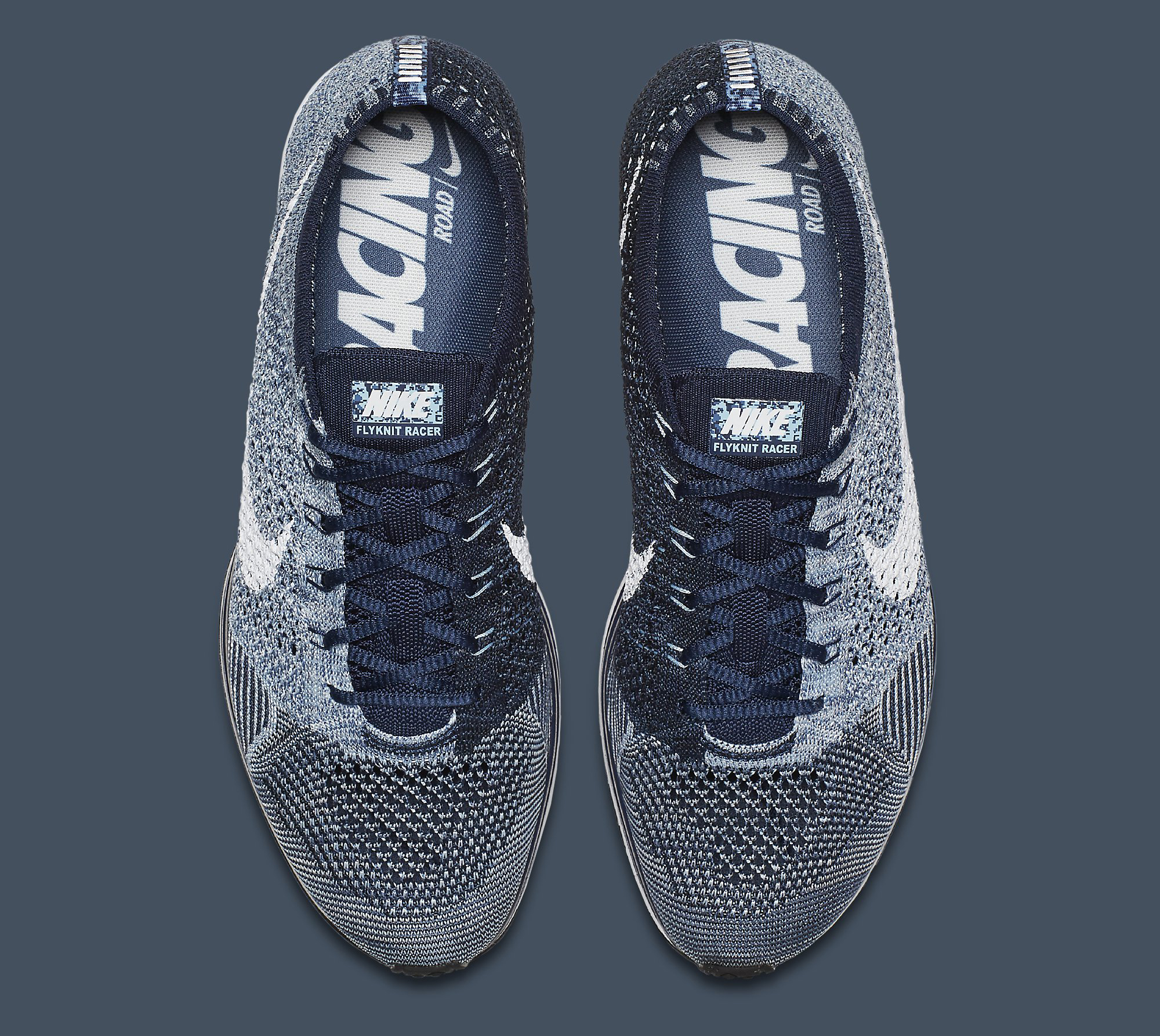 info for fd3f7 cfd81 Image via Nike Nike Flyknit Racer Blue Tint White 862713-401 Top