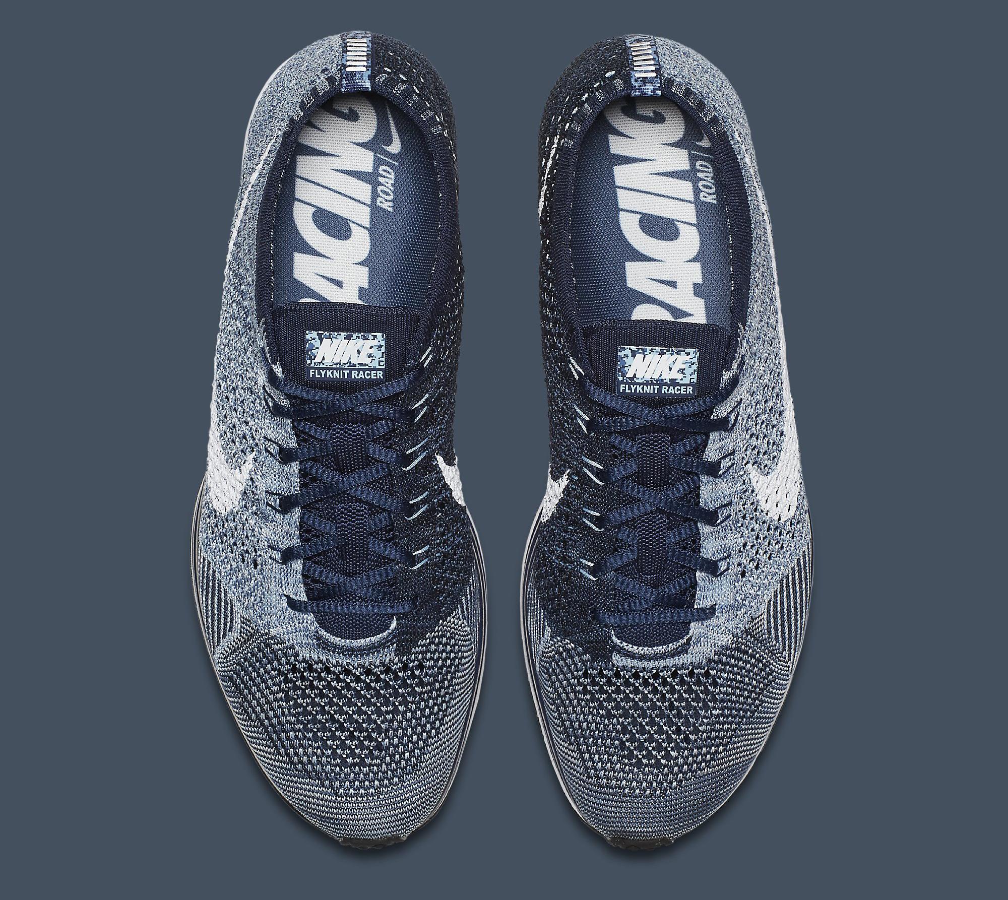 info for 47c03 4994b Image via Nike Nike Flyknit Racer Blue Tint White 862713-401 Top