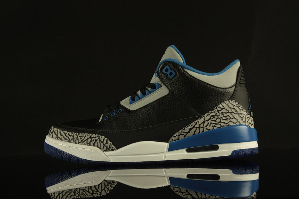 483f5f75f88b New Images of The  Sport Blue  Air Jordan 3 Retro