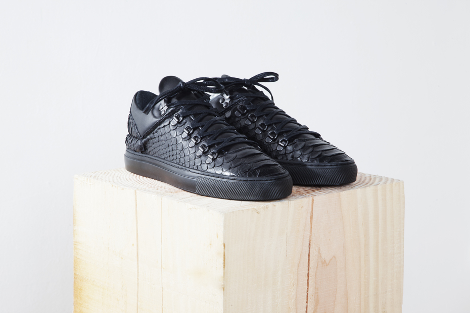 Filling Pieces Amsterdam Black Friday Pack Mountain Cut Python Leather