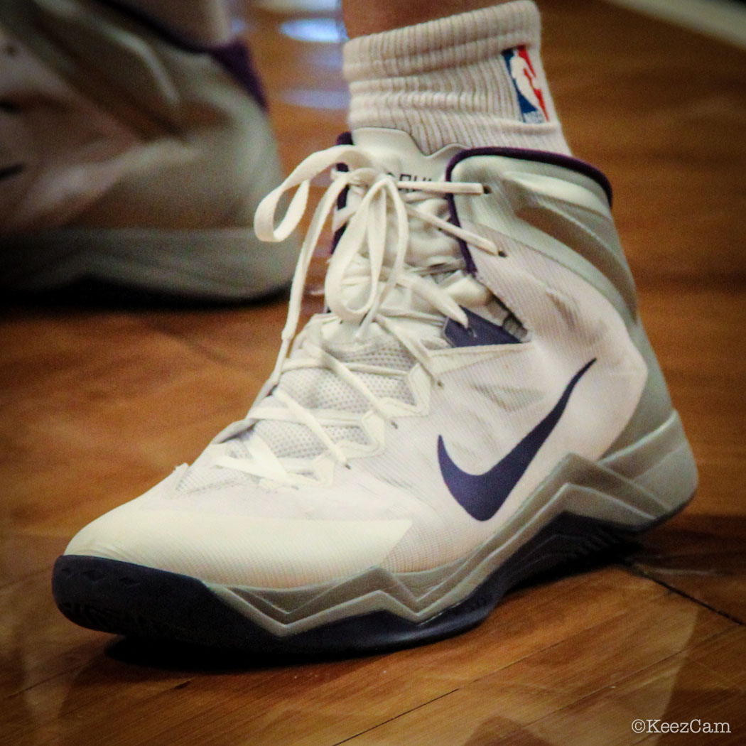 Aaron Gray wearing Nike Hyper Quickness