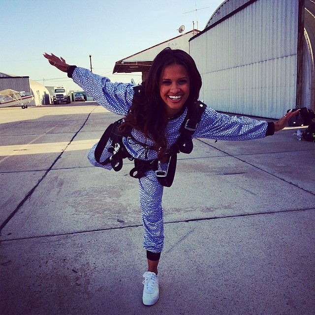 Rocsi Diaz wearing adidas Originals Samoa