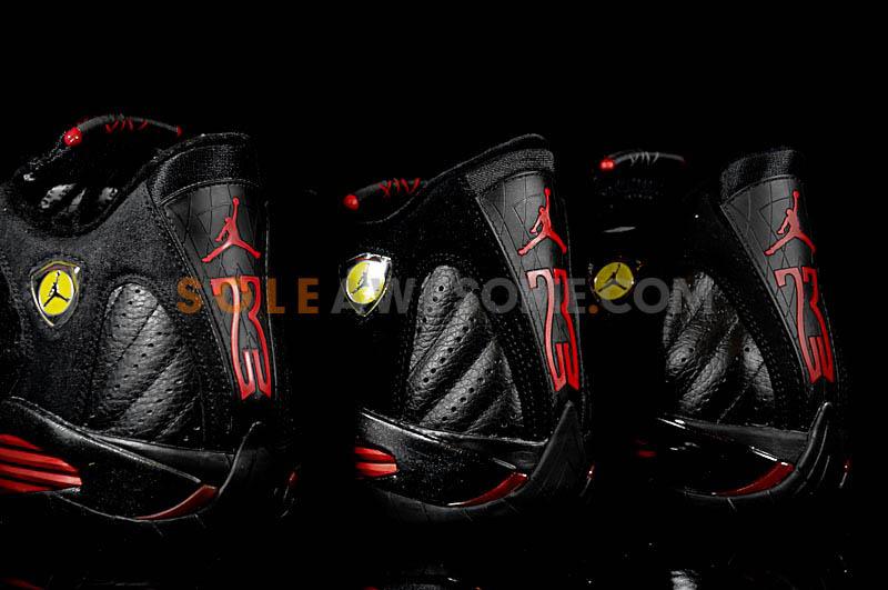 buy popular ad3ec 3fdf2 Air Jordan 14 XIV Last Shot Comparison 1999 2005 2011