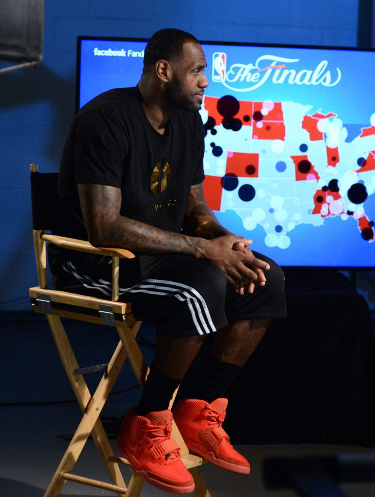 LeBron James wearing Nike Air Yeezy II 2 Red October (11)