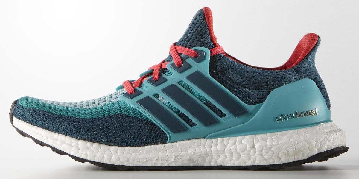 adidas Ultra Boost 2016 Wave Blue/Teal-Red (1)