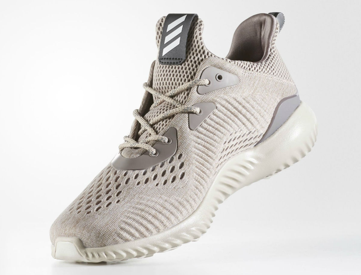 sale retailer 4d721 50b21 Adidas AlphaBounce EM Tech Earth Clear Brown Crystal White Medial