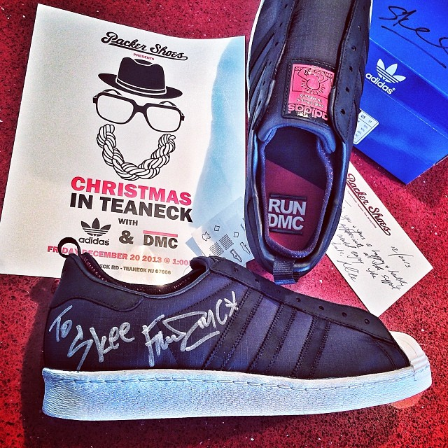 DJ Skee Picks Up Run DMC x Keith Haring x adidas Originals Superstar 80s