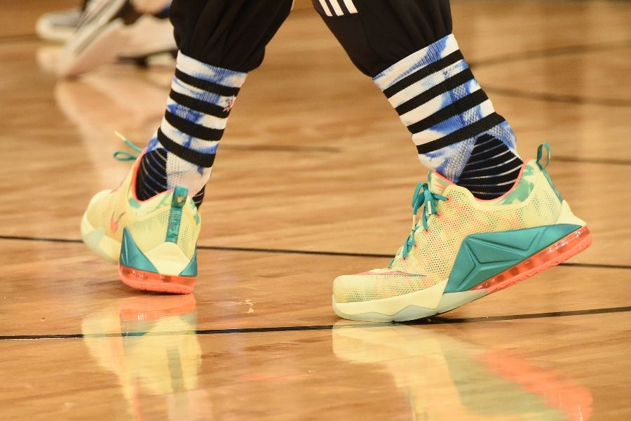 LeBron James wearing Nike LeBron XII 12 Low LeBronold Palmer (4)