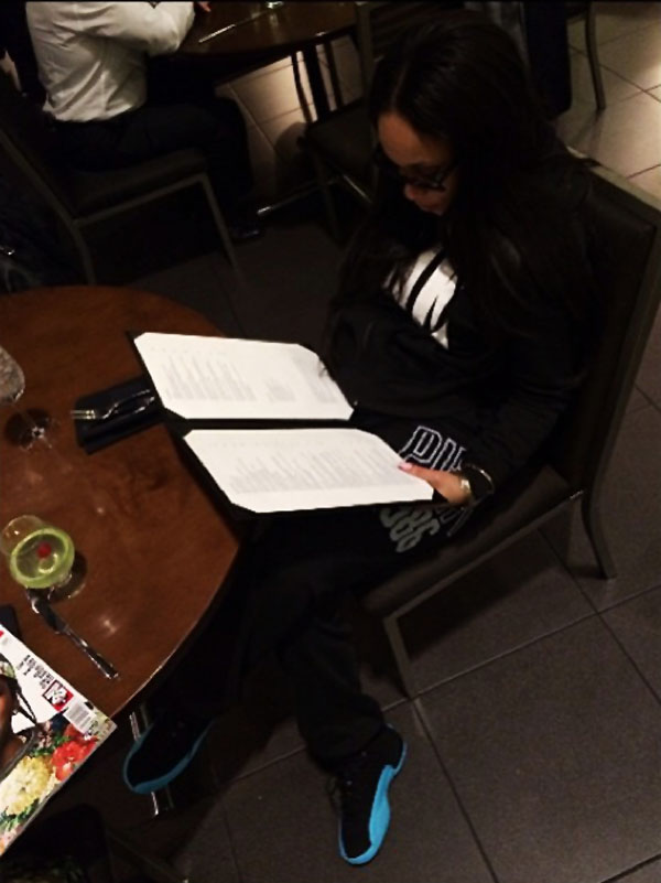 Tahiry Jose wearing Air Jordan 12 Gamma