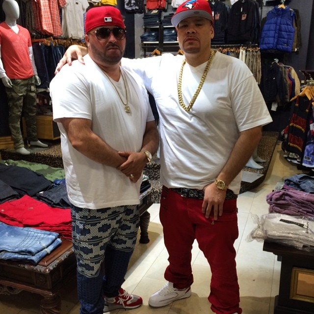 Fat Joe wearing Air Jordan II 2 White/Red
