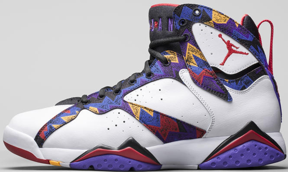 Air Jordan 7 Retro White/University Red-Black-Bright Concord