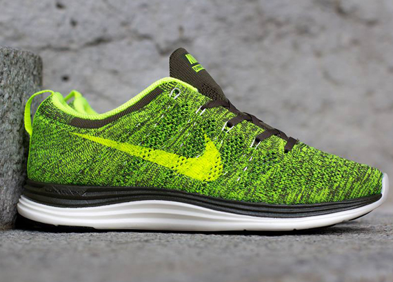 designer fashion 5e121 bcd97 Nike Flyknit Lunar1+ - Tarp Green Volt-Sail