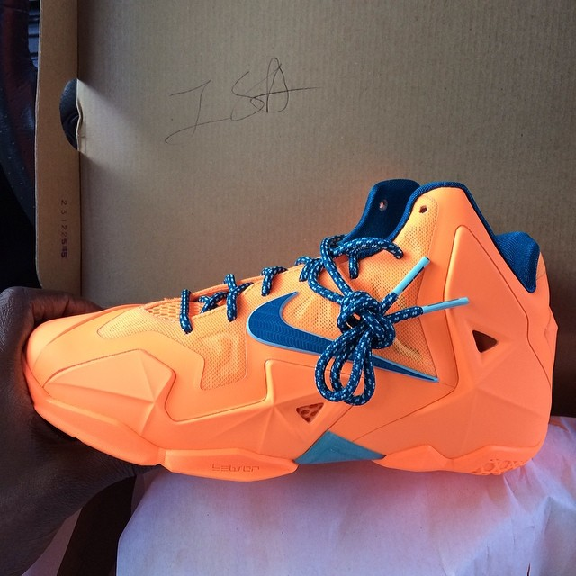Chad Johnson Picks Up Nike LeBron 11 Atomic Orange