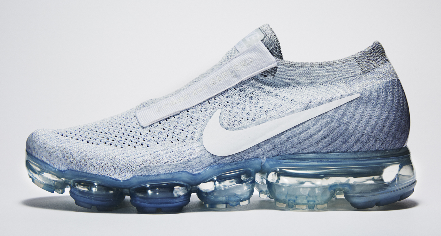 Image via Nike White Nike Air VaporMax Comme des Garcons Profile 2279ee313