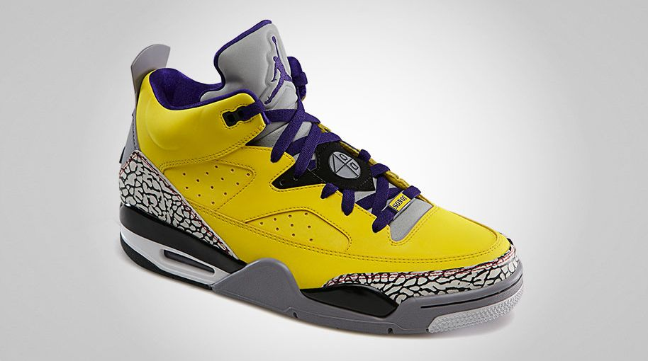 save off 03030 82549 Jordan Son of Mars Low Tour Yellow Grape Ice Cement Grey Black White  580603-708