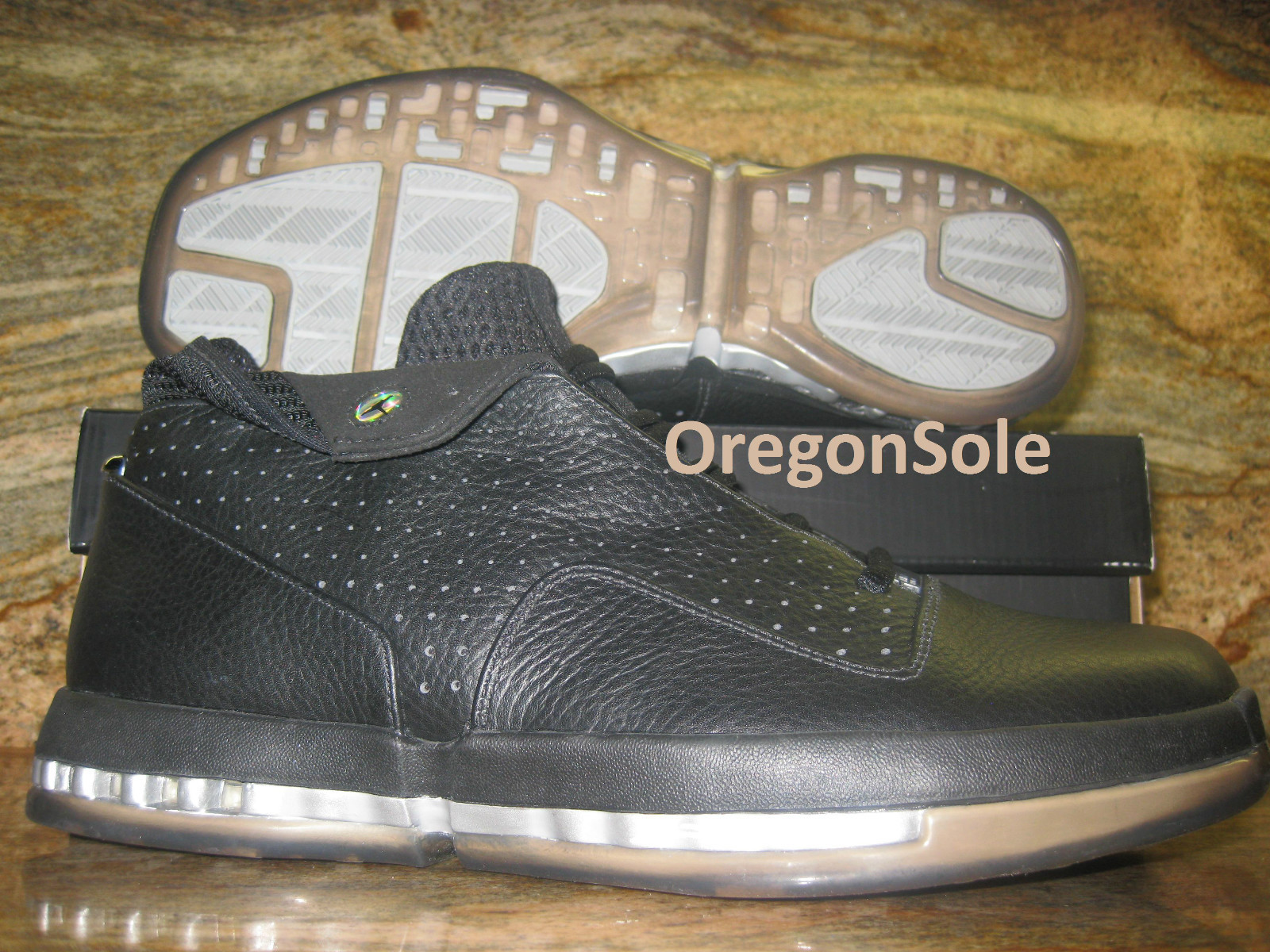 brand new c9cce 3bf86 Air Jordan 16 Retro Low - Black Metallic Silver - Unreleased Sample
