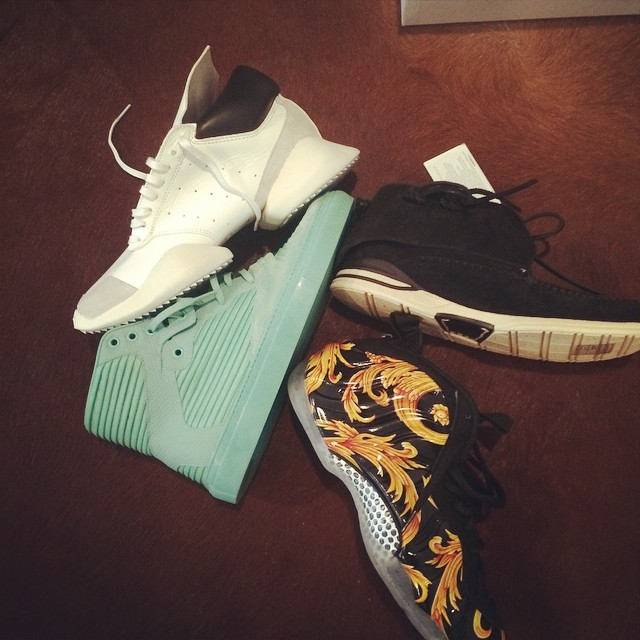 Wale Picks Up Rick Owens x adidas, Balenciaga, Supreme Foamposite