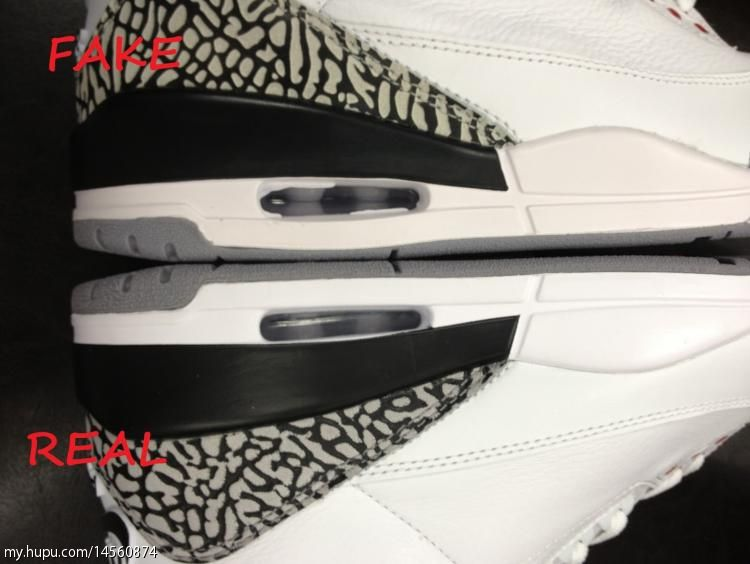 Air Jordan 3 Retro '88 Authentic vs. Fake Comparison