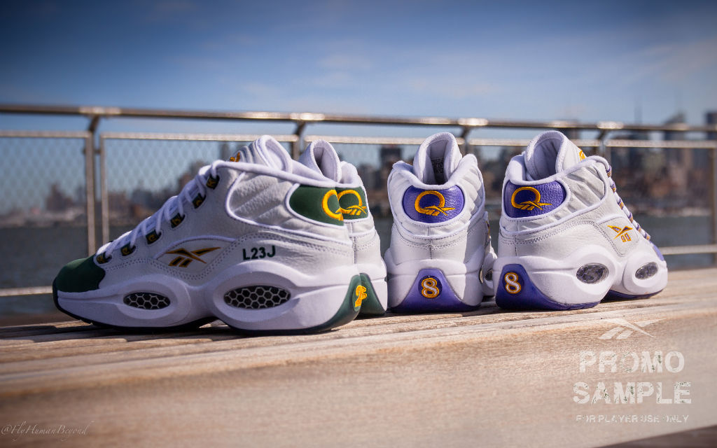 best service 0738b aa6ec Packer Shoes x Reebok Question LeBron James Kobe Bryant For Player Use Only  (2)