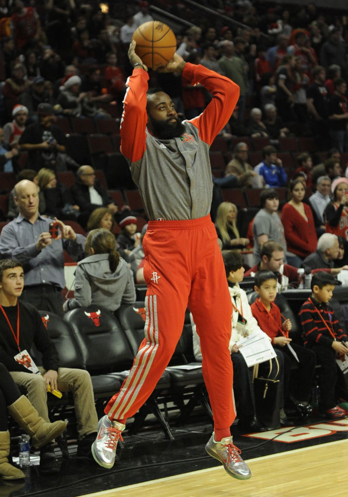James Harden wearing Nike Lunar Hypergamer Christmas PE (1)