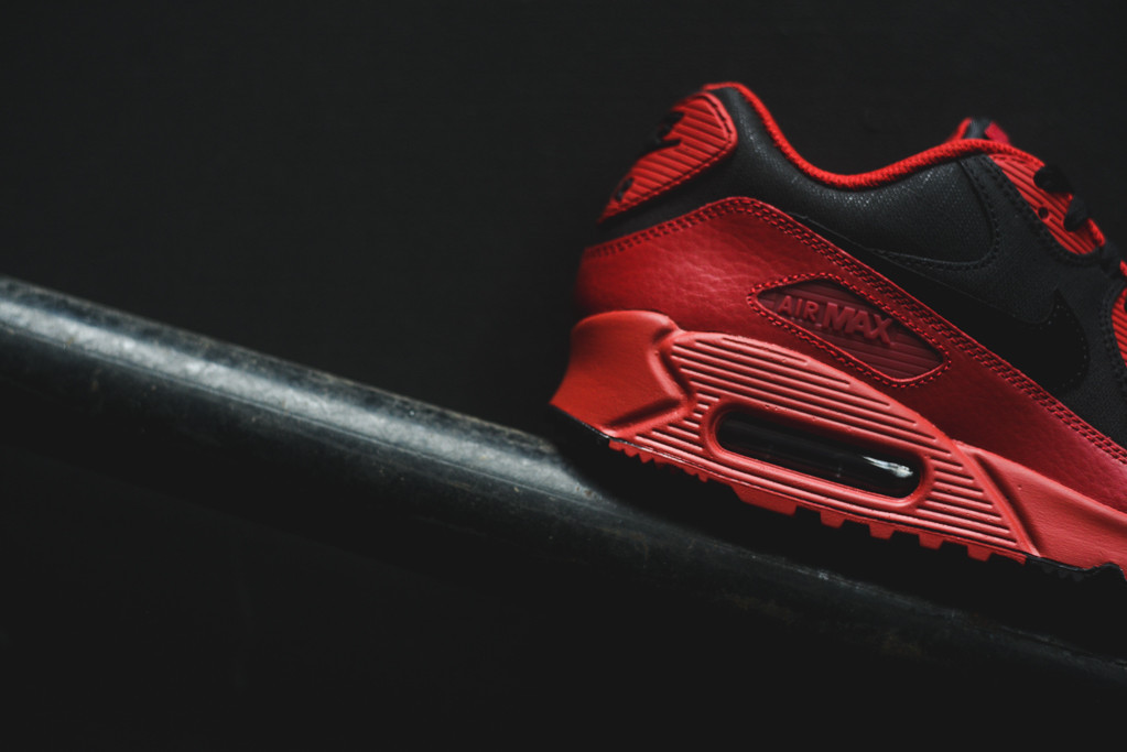 outlet store 5780b c1fca Nike Air Max 90 Winter Gym RedBlack (5)