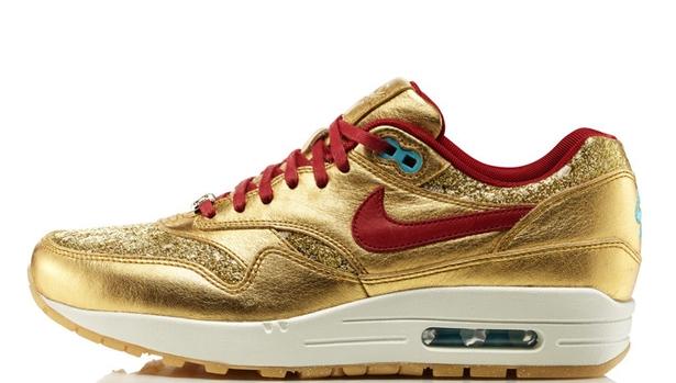 Nike Air Max 1 BHM Women's Metallic Gold/Deep Cardinal-Gamma Blue