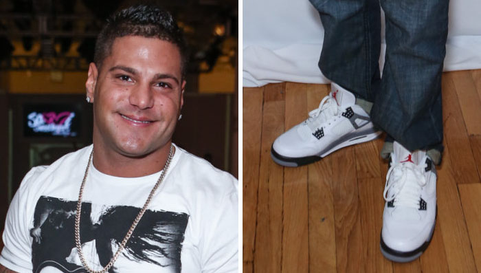 Ronnie Ortiz-Magro Wears Air Jordan IV 4 Cement