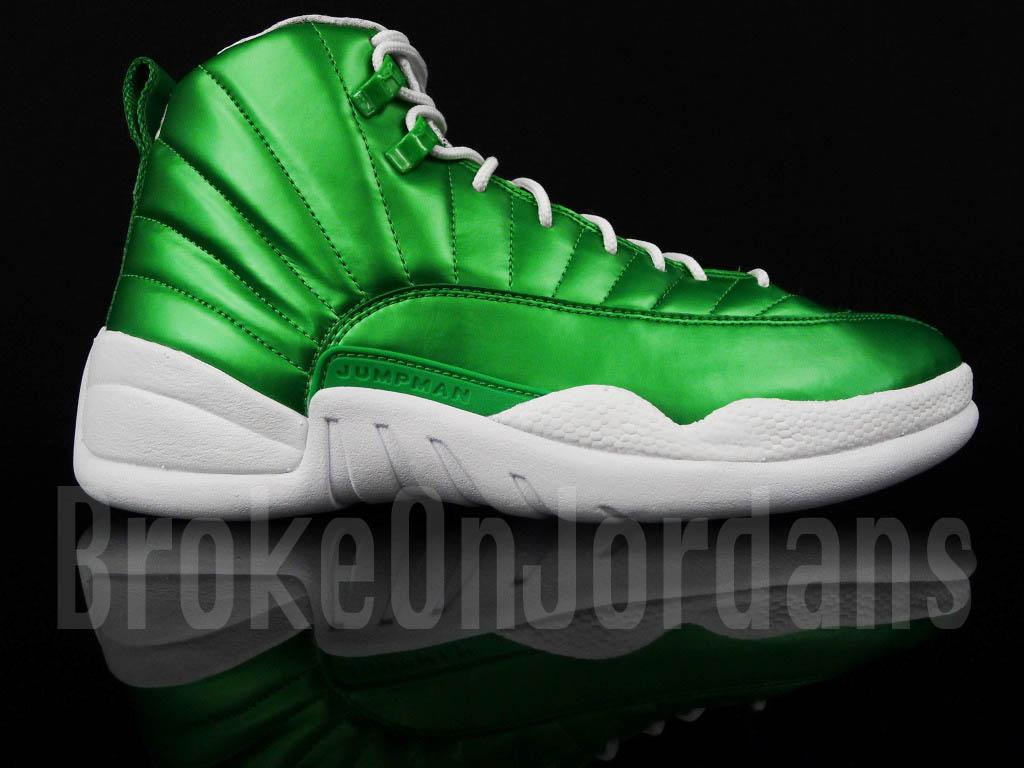 air jordan retro 12 green white