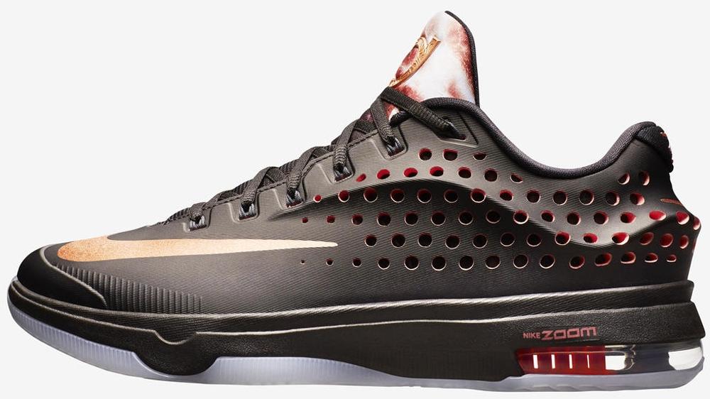 Nike KD VII Elite Black/Classic Charcoal-Hot Lava-Red Bronze