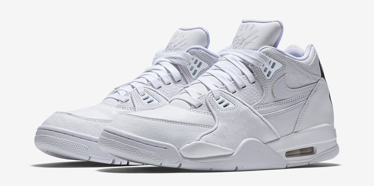 Nike Air Flight 89 QS White Black Ostrich