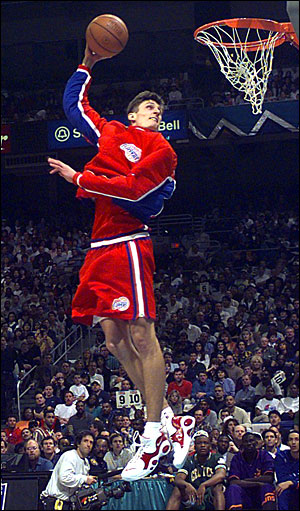 Brent Barry wearing the Nike Air Zoom Flight 95