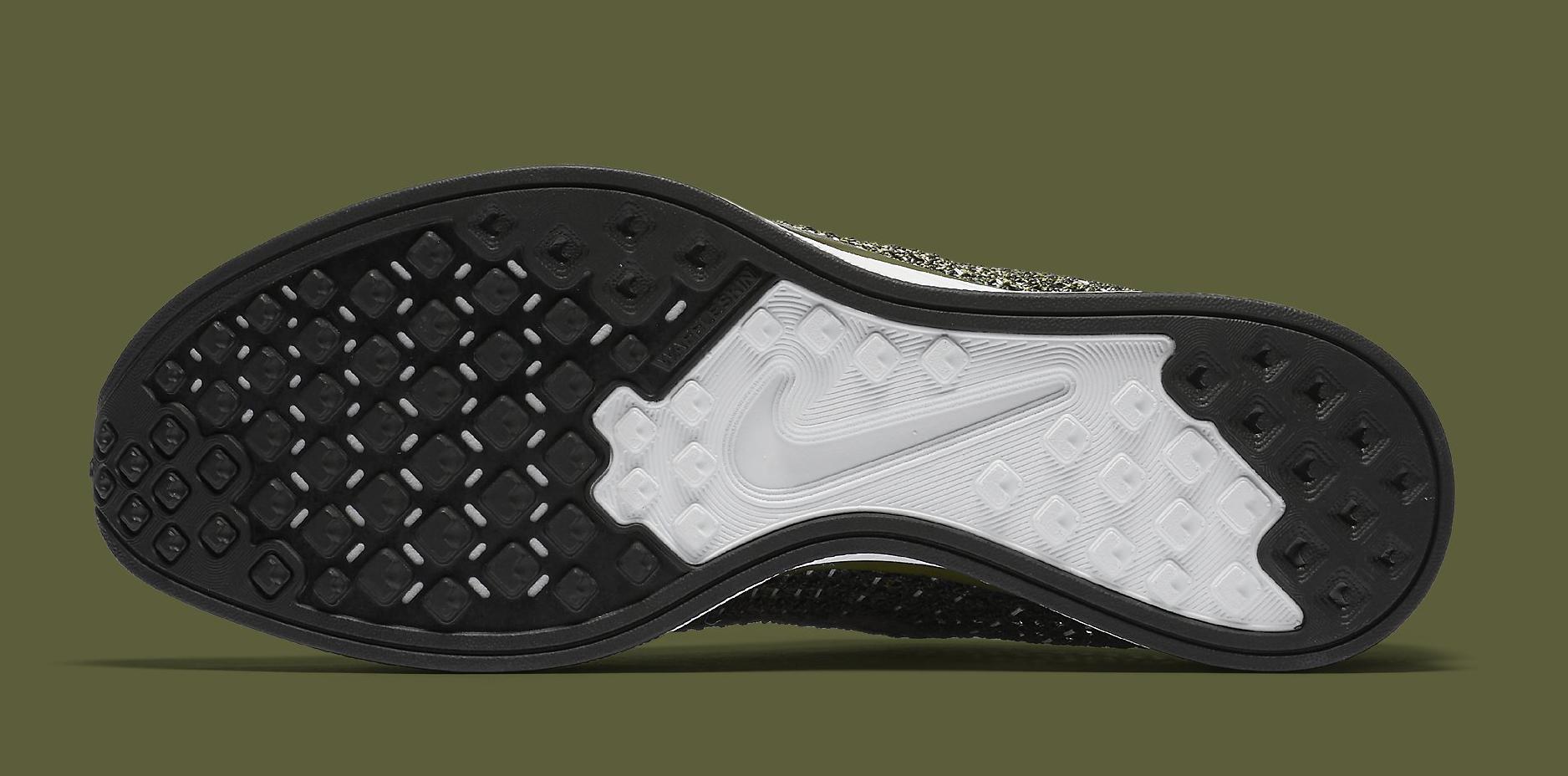 Nike Flyknit Racer Green Camo 862713-300 Sole