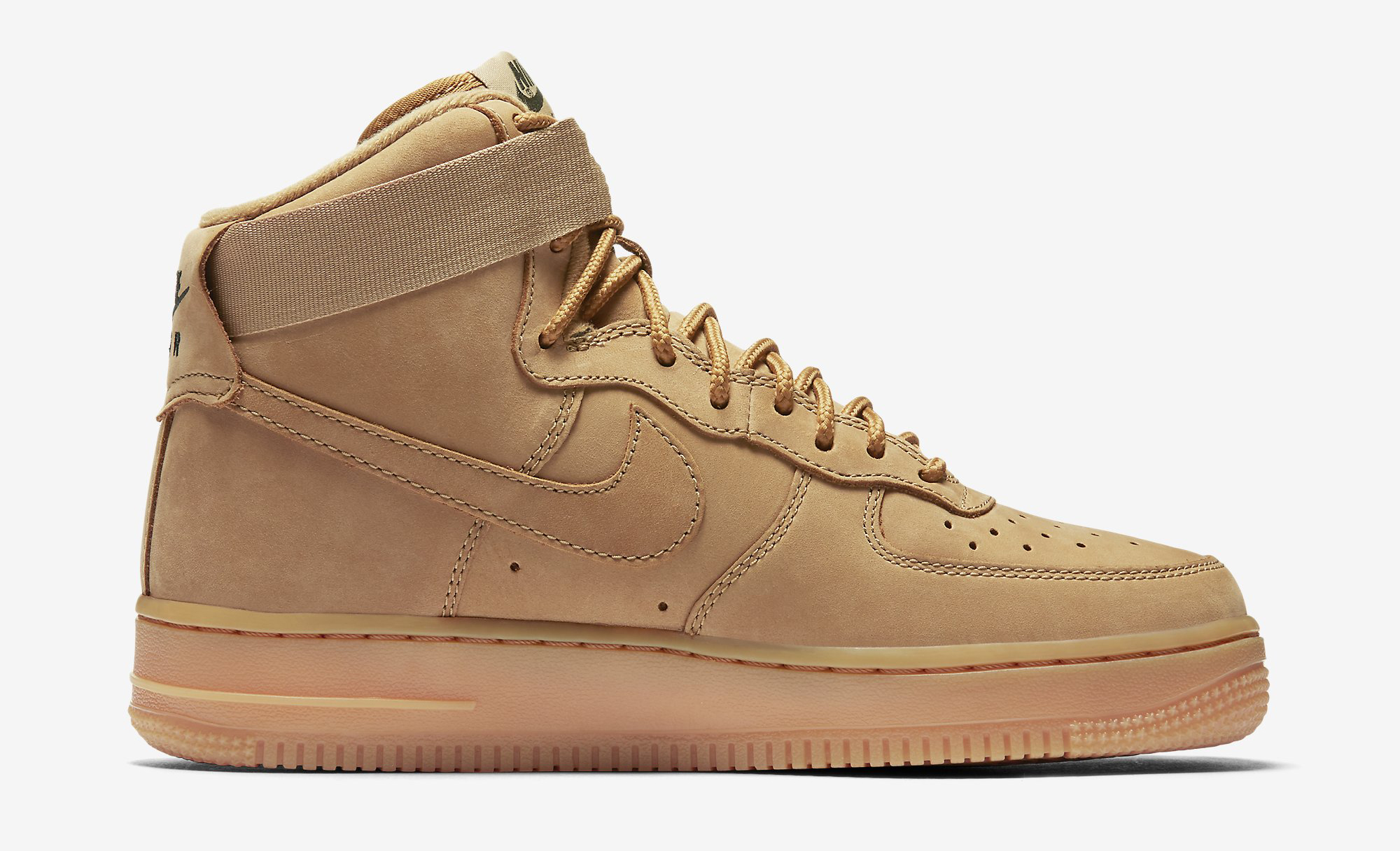 Image via Nike Wheat Nike Air Force 1 654440-200 Medial 340668fbf