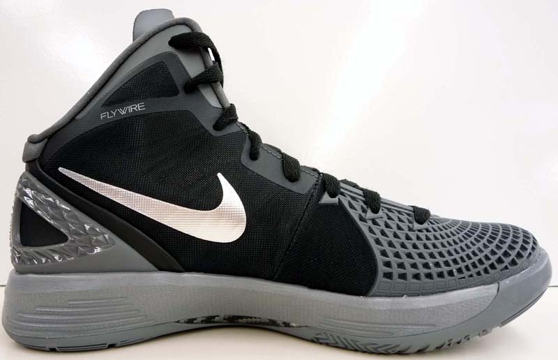 7060e68e726a Nike Zoom Hyperdunk 2011 Supreme Black Dark Grey Cool Grey Metallic Silver  469776-001 B