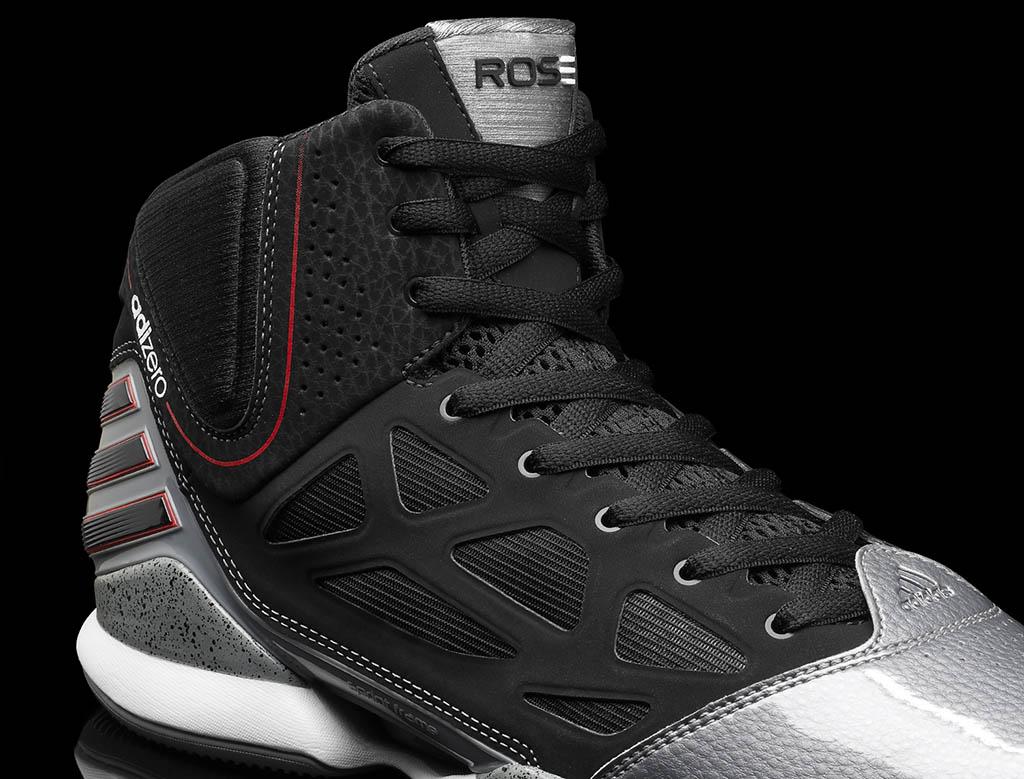best sneakers 4ea17 a41b5 adidas adiZero Rose 2.5 Playoff Lead Black Scarlet G48886 (3)