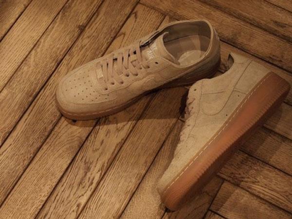 Nike Air Force 1 Goma Negro Suela De Cuero PStcn4GV2V