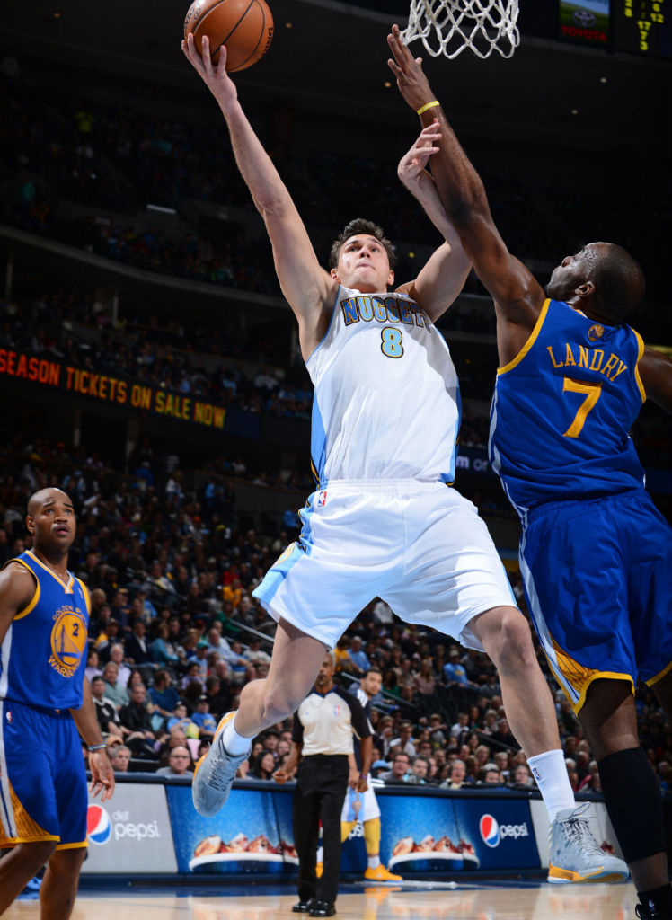 Danilo Gallinari wearing adidas adizero Crazy Light 2