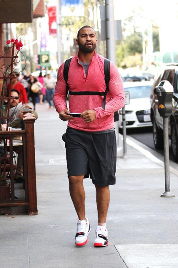 Matt Kemp wearing Nike Air Trainer 1 Infrared