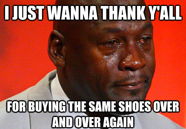 Best Michael Jordan Crying Sneaker Memes: Buying the Same Shoes