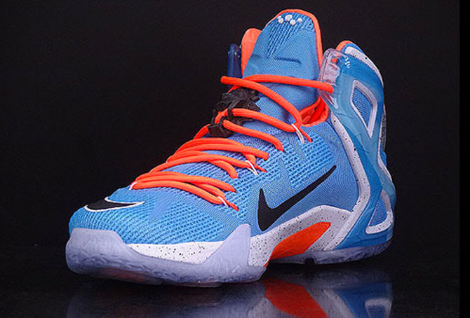 7c9ca6a89f3 ... elite sky blue orange basketball shoes another . 16257 cf789  shop nike  lebron xii 12 elevate 724559 488 4 96182 708a0