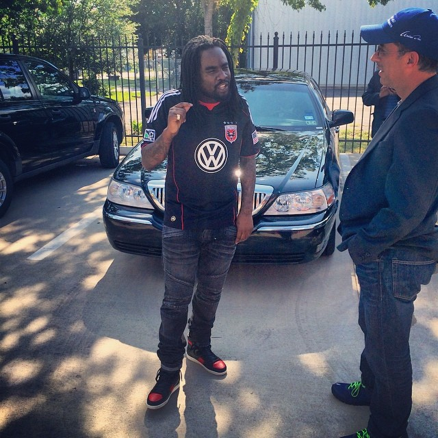 Wale wearing Yves Saint Laurent 10H Bred