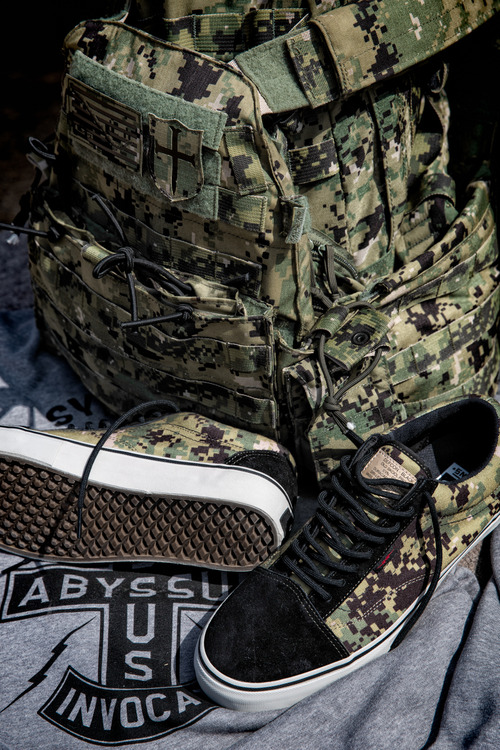 DEFCON x Vans Syndicate Digital Camo pack old skool