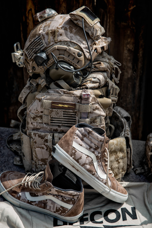 DEFCON x Vans Syndicate Digital Camo pack Sk8-Hi Notchback