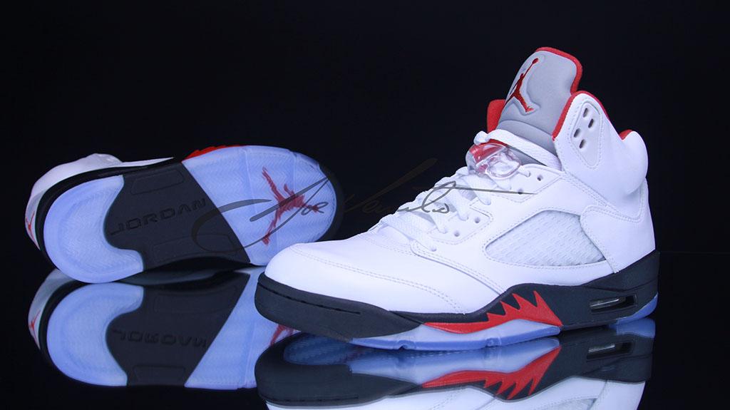 on sale e3942 d3783 Air Jordan Retro 5 - Fire Red | Sole Collector