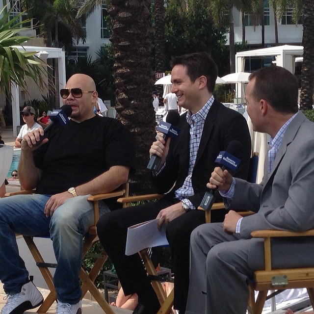 Fat Joe wearing Air Jordan 12 XII Taxi