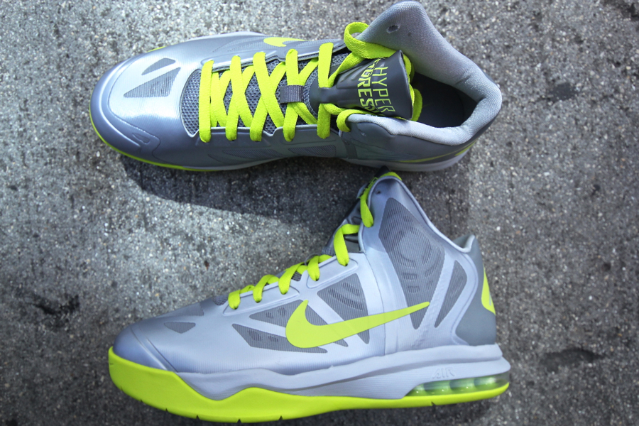 info for a529d b2910 ... Nike Air Max Hyperaggressor - Wolf GreyAtomic Green Nike Mens Air Max  Hyperaggressor Basketball Shoe . ...