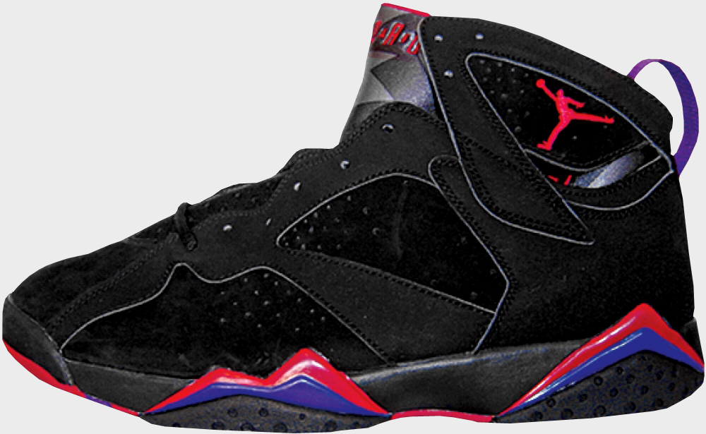 Womens Air Jordan 7 (VII) Embroidery Charcoal Black/True Red ...